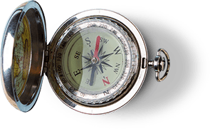 pocket-watch style compass