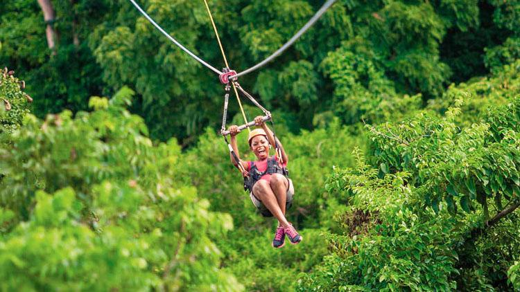 ZIPLINE THE LUSH RAINFORESTS