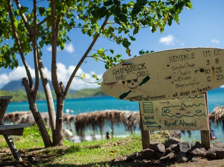 Shipwreck Beach Bar Grill Stkittstourism Kn